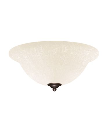 Shown in Oil Rubbed Bronze finish and White Linen glass