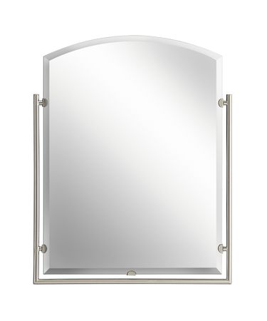 Shown in Brushed Nickel finish and Mirror glass