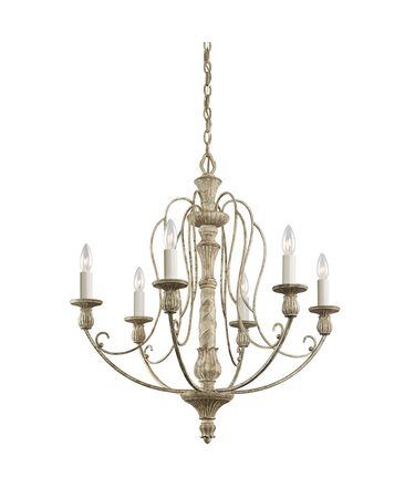 Shown in Distressed Antique White finish