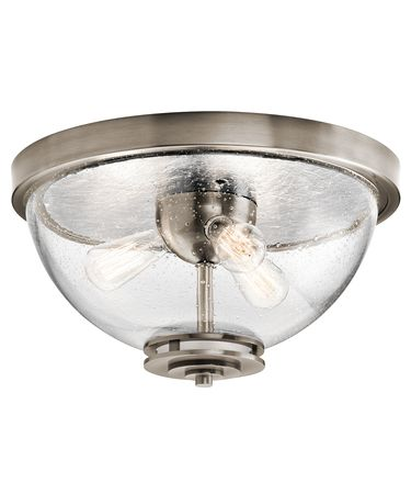 Shown in Classic Pewter finish and Clear Seedy glass