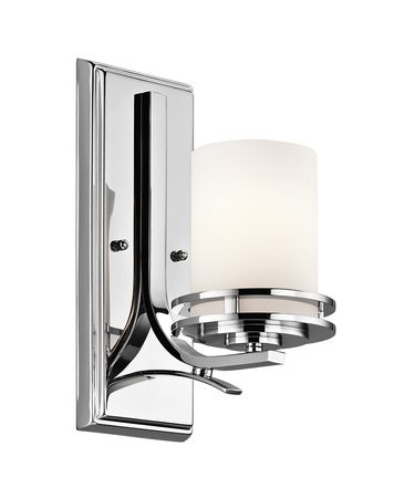 Shown in Chrome finish and Satin Etched Opal glass