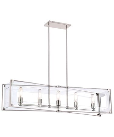 Shown in Polished Nickel finish and Clear Acrylic glass