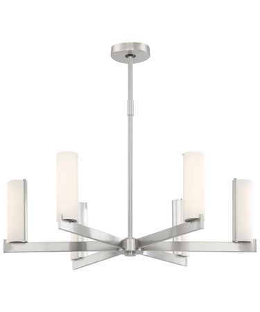 Shown in Brushed Nickel finish and Opal glass