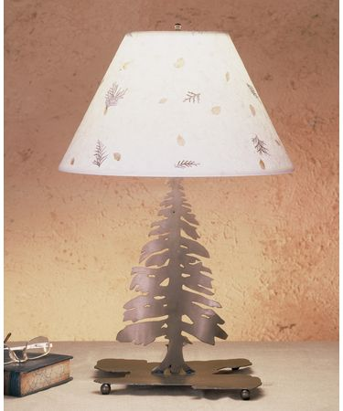 Shown in Antique Copper finish and Pressed Foliage Paper shade