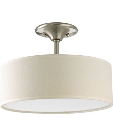 Shown in Brushed Nickel finish and Fabric shade