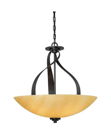 Shown in Imperial Bronze finish and Butterscotch Onyx glass