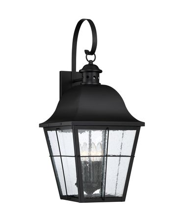 Shown in Mystic Black finish and Clear Seedy glass