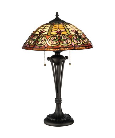 Shown in Rich Dark finish and Tiffany glass