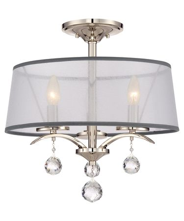 Shown in Imperial Silver finish and Amber Scavo glass