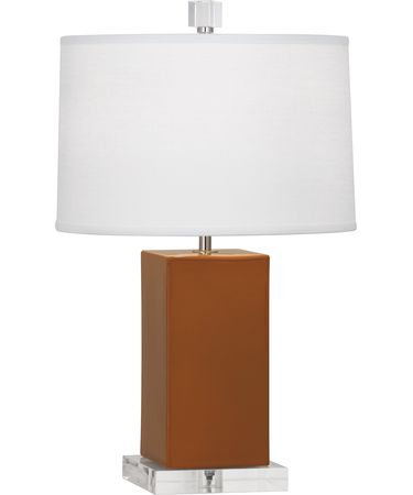 Shown in Polished Nickel-Cinnamon finish and Oyster Linen shade