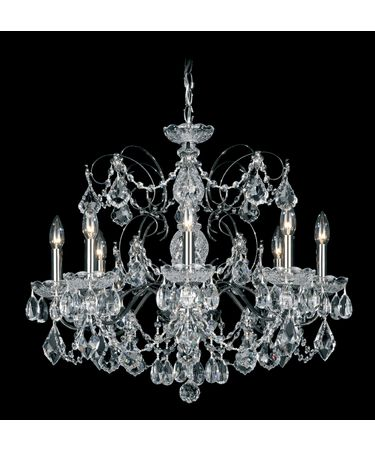 Shown in Black Pearl finish and Clear Heritage Handcut crystal