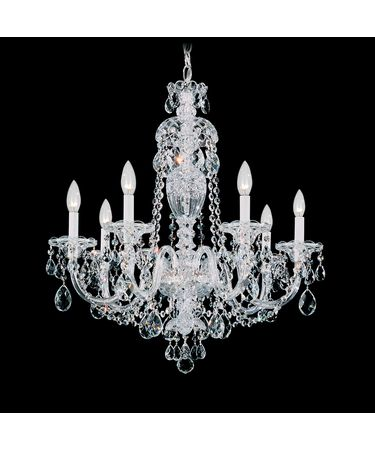 Shown in Silver finish and Clear Heritage Handcut crystal