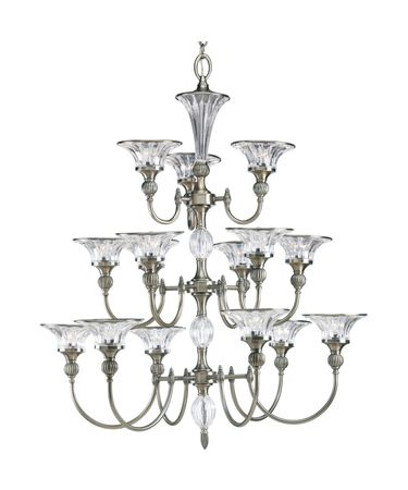 Shown in Classic Silver finish and Clear Crystal glass