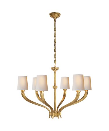 Shown in Antique-Burnished Brass finish and Natural Paper shade