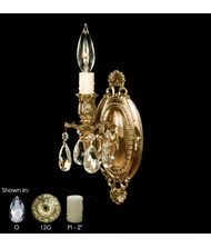 American Brass and Crystal WS9411 9400 Series 5 Inch Wall Sconce