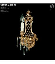 American Brass and Crystal WS9451 9450 Series 9 Inch Wall Sconce