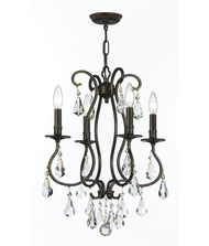 Crystorama 5014 Ashton 16 Inch Mini Chandelier