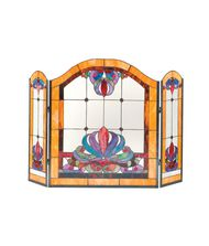 Dale Tiffany FS0111 Anemone 50 Inch Fireplace Screen