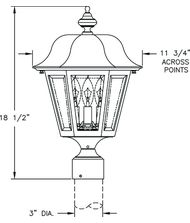 Hanover Lantern B4131 Manor Medium 3 Light Outdoor Post Lamp