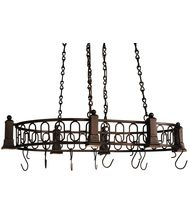 Meyda Lighting 121343 Deco 43 Inch Lighted Pot Rack