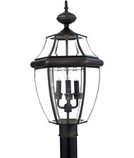 Quoizel NY9043 Newbury 3 Light Outdoor Post Lamp