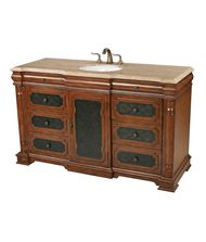 Sterling Industries 88-9015 Walnut Tone Single Vanity Unit