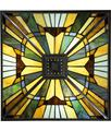 Shown in Valiant Bronze finish and Tiffany glass
